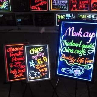 DIY Neon LED Writing Board (Flashing Illuminated Erasable)