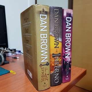Dan Brown Books (hardcover)