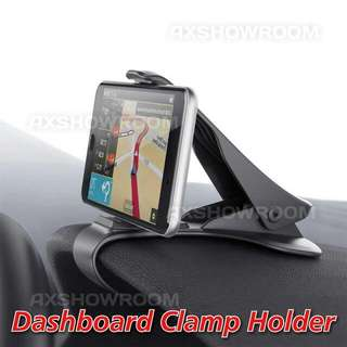 "Universal Dashboard Clamp Holder For Mobile Phones Or GPS. Suitable For Devices Ranging From 3"" To 6.5"""