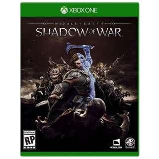 BNIB Shadow of War Xbox One