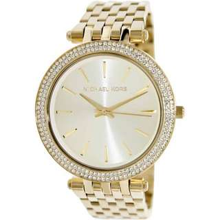 Michael Kors MK3191 Glitz Darci Gold Tone Ladies Watch MK3191