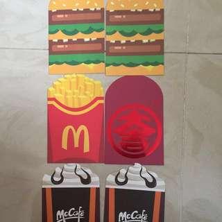 麥當勞漢堡包/薯條/Mc Cafe造型利是封