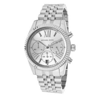 Michael Kors MK5555 Lexington Silver Chronograph Stainless Steel