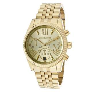 Michael Kors MK5556 Gold Lexington Chronograph Ladies Watch