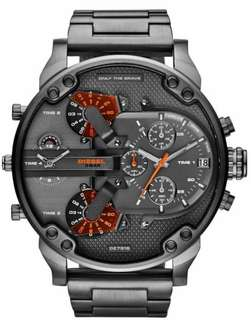 Diesel DZ7315 Mens The Daddies Series Black / Grey Four Time Zone