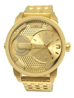 Diesel Mini Daddy DZ7306 Mens Champagne Dial Gold-tone Watch
