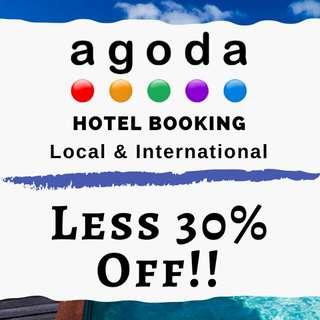 AGODA - LESS 30% OFF! HOTEL BOOKING!