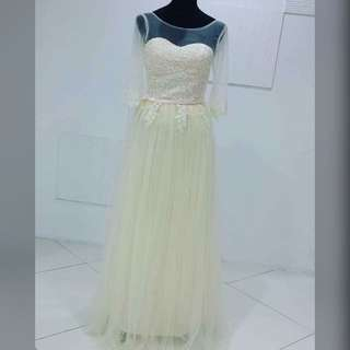 Champagne 3/4 Gown