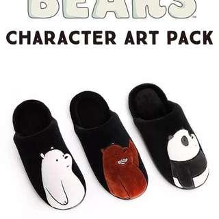 *Preorder* We Bare Bears Indoor slippers