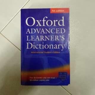Oxford Advanced Learner's Dictonary