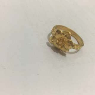 24KT gold flower ring