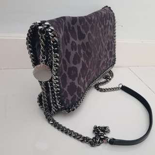 Stella Mccartney Falabella Shaggy Deer Crossbody with Flap in Leopard Print (Authentic)