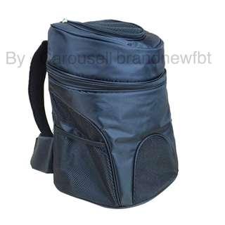 Pet bag Portable Pet Carrier Net Bag Pet Backpack for Dog & Cat Model B  black