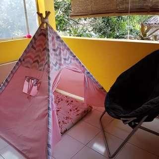 Tenda anak +matras dan 2 bantal