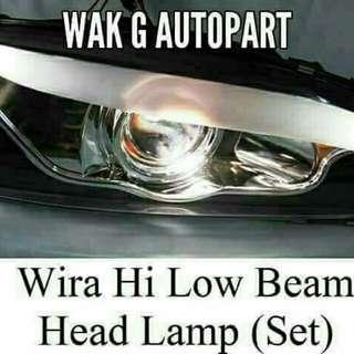 Head Lamp Wira Hight Low Beam