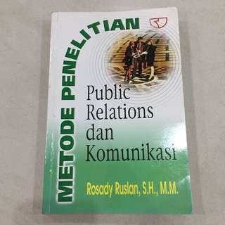 Buku penelitian Public Relation dan Komunikasi