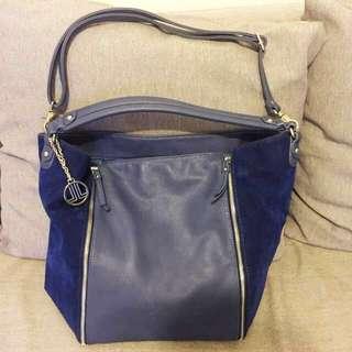 LANVIN en bleu Bucket Bag