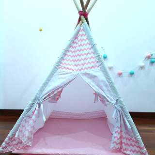 Pink Indian Tent for Kids