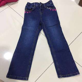 Jeans with adjustable waist