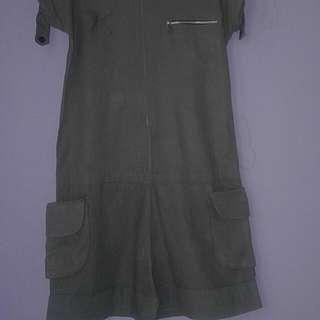 Short Jumpsuit Grey