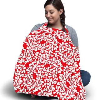 Red Fiesta Cotton Nursing Cover