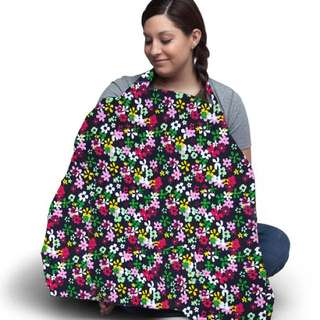 Colorful FLORAL Cotton Nursing Cover