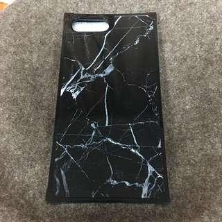 🚚 黑色大理石紋方型手機殼