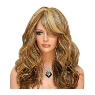 COS Synthetic Mix Color Long Highlighting Hair Cosplay Fashion Full Hair Wig