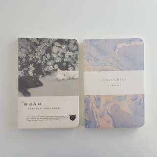Notebooks (Marble and Cat design)