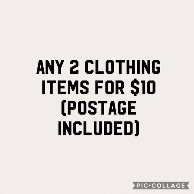 2 items for $10 !!!