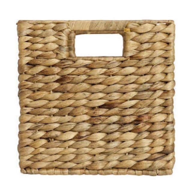2x bamboo storage basket