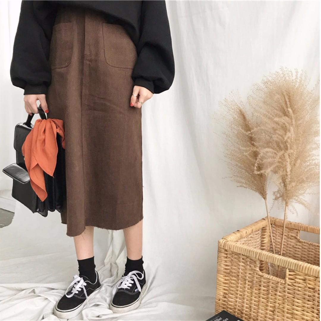 【預購】開衩牛仔裙