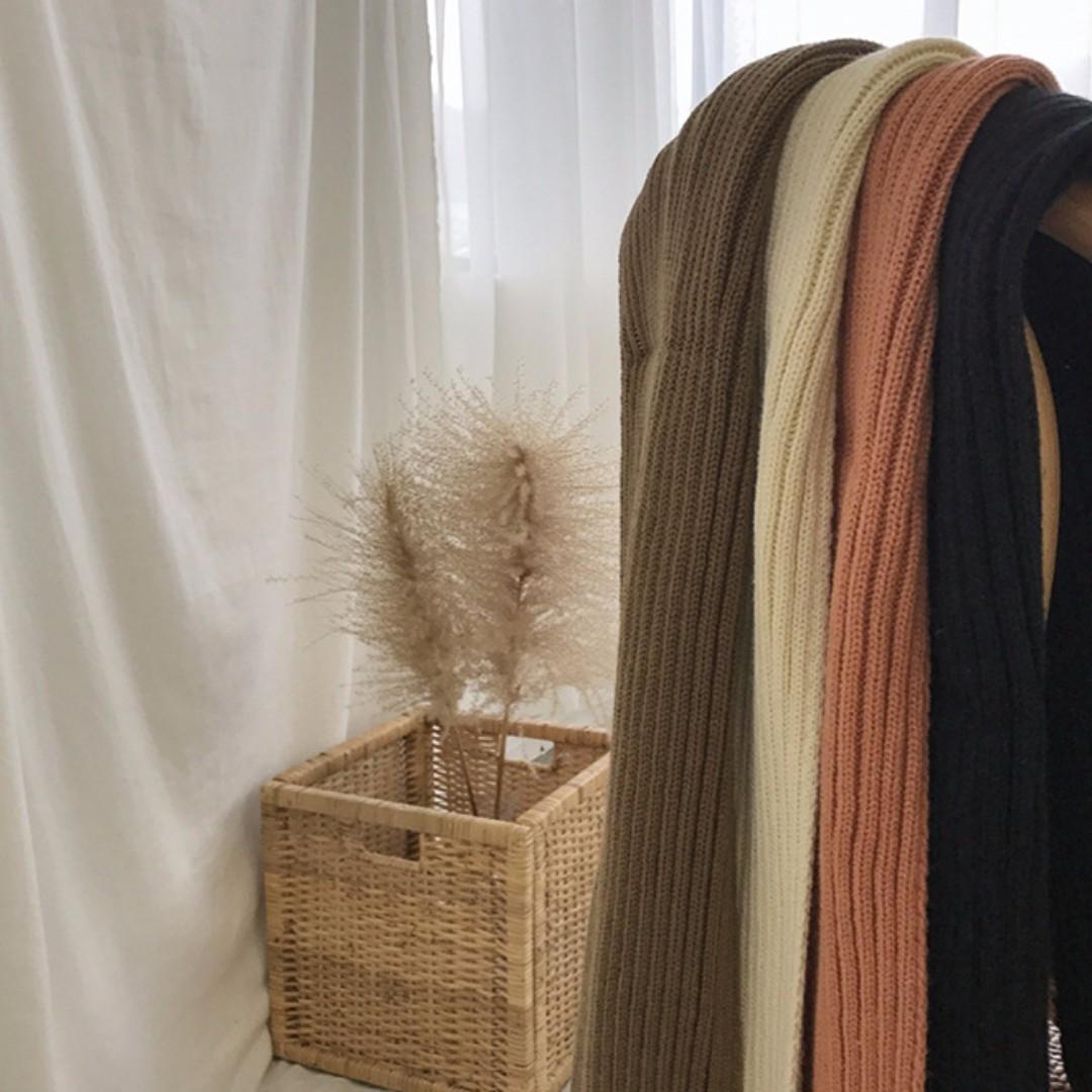 【預購】純色保暖圍巾