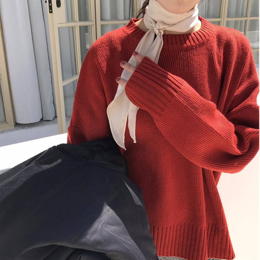 【預購】基本純色針織毛衣