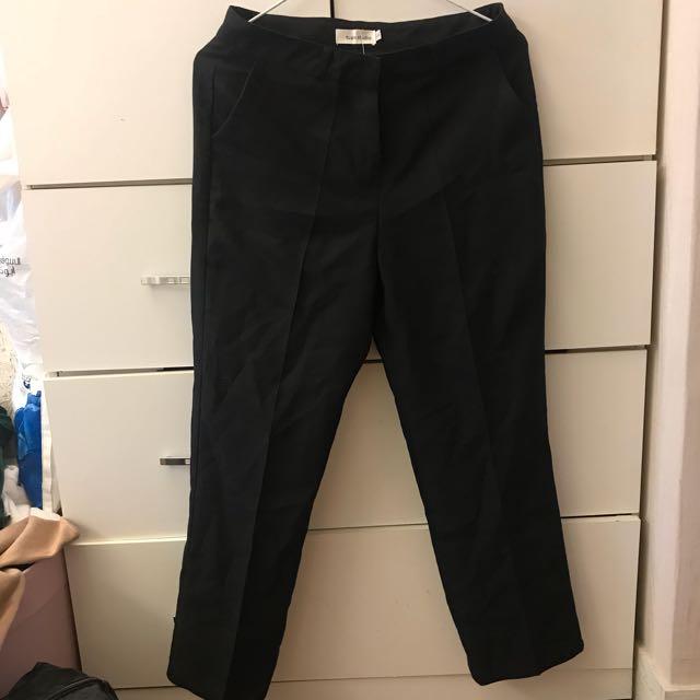 西裝材質寬褲