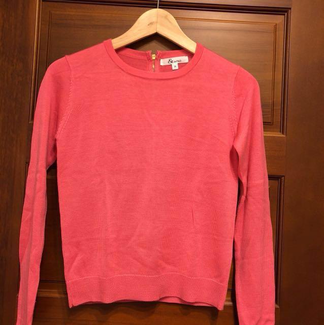 🇯🇵日本帶回專櫃粉色針織上衣(全新已剪標)