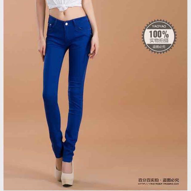 鉛筆褲(藍)
