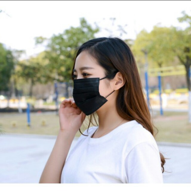 拋棄式四層活性碳加厚口罩50入(可零售一片5元)