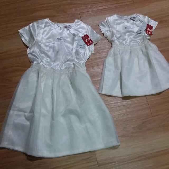巴布豆短袖連身裙