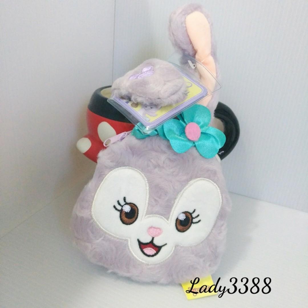 史黛拉兔芭蕾舞兔吊飾毛絨拉鍊零錢包 大頭 W83