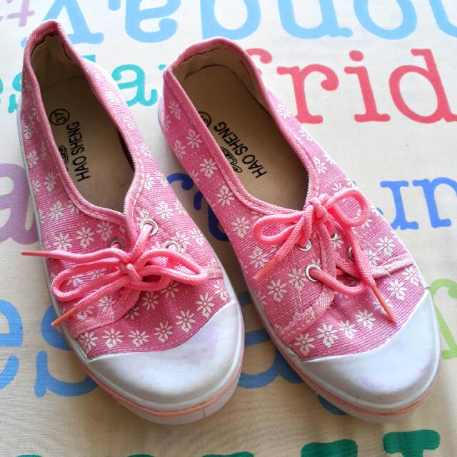 👟 Pink Flat Shoes With Lace 👟
