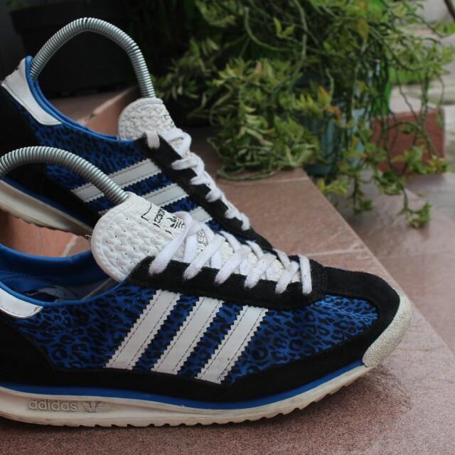 best sneakers e1061 2999f Adidas SL72 blue leopard, Men s Fashion, Men s Footwear on Carousell