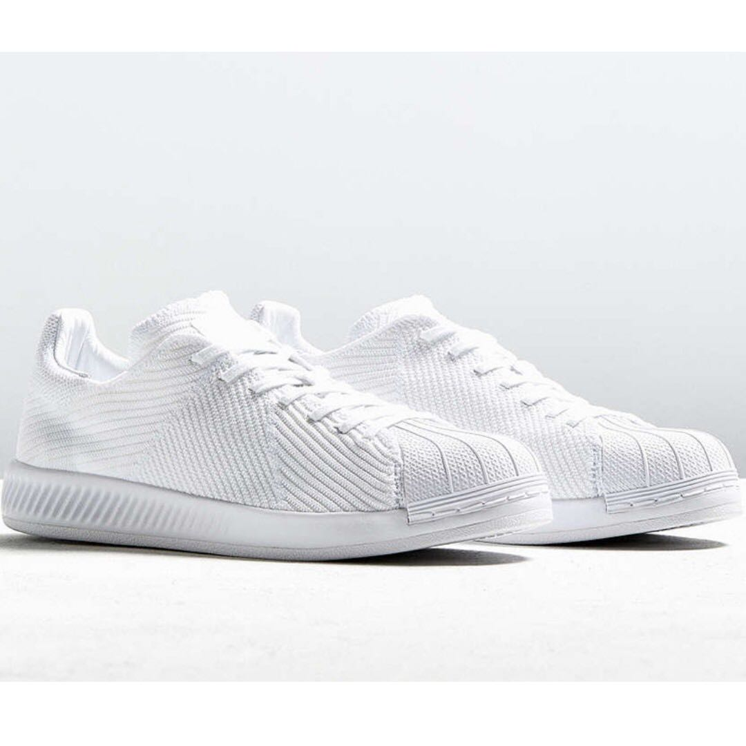 4e96f6d85f75 ADIDAS SUPERSTAR BOUNCE PRIMEKNIT – TRIPLE WHITE (US 11) New