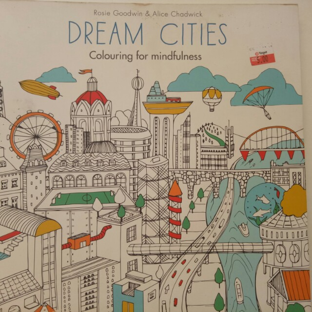 Adulting Coloring Book Dream Cities Books Stationery On Carousell