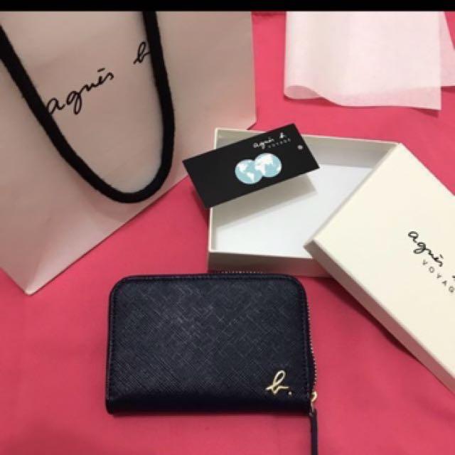 法國知名Agnes 新品藍色零錢包 原價3680