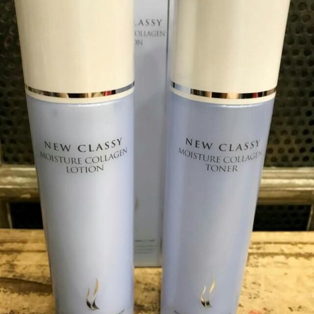 韓國AHC NEW CLASSY海洋深層膠原蛋白保濕柔膚水+乳液