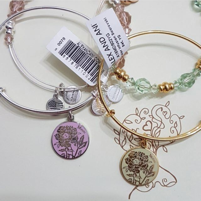 Alex and Ani Mother's Day Color Infused Charm and Swarovski Crystal Set