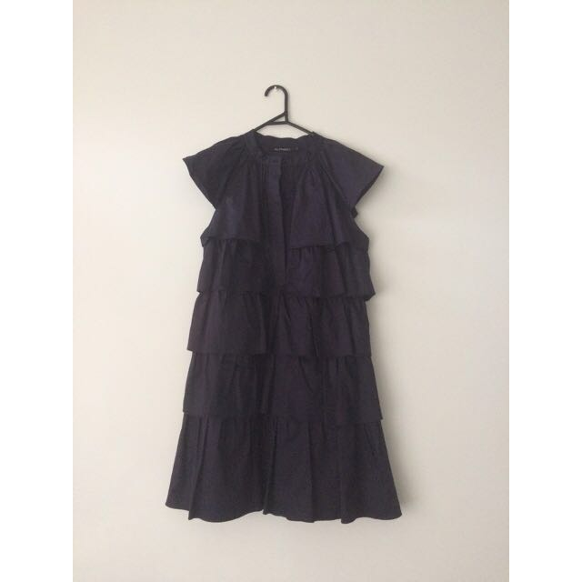 Alpha 60 Navy Blue Tiered Dress