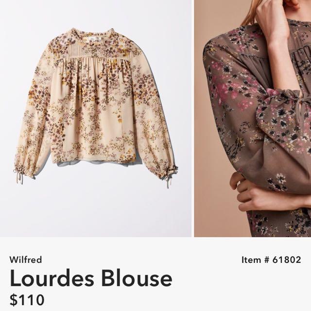 Aritzia Lourdes Blouse