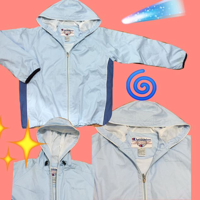 AUTHENTIC champion windbreaker in baby blue